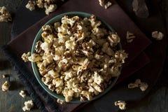 Homemade Chocolate Drizzled Caramel Popcorn Stock Photos