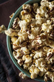 Homemade Chocolate Drizzled Caramel Popcorn. Ready to Eat Stock Photography