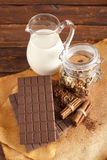 Homemade chocolate and food ingredients Stock Photo
