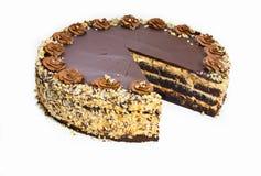Homemade chocolate hazelnut cake Stock Photography