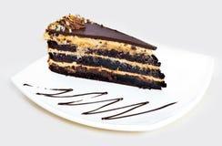 Homemade chocolate hazelnut cake Stock Photos