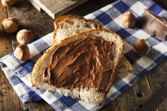 Homemade Chocolate Hazelnut Spread Stock Images
