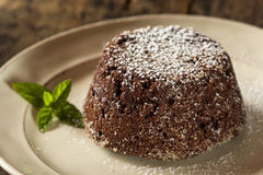 Homemade Chocolate Lava Cake Dessert Royalty Free Stock Images