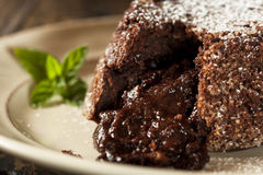 Homemade Chocolate Lava Cake Dessert Royalty Free Stock Photography