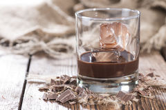 Homemade Chocolate Liqueur Stock Image