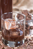 Homemade Chocolate Liqueur Stock Photos