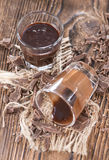 Homemade Chocolate Liqueur Royalty Free Stock Photos