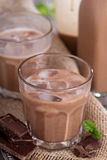 Homemade chocolate liquor Stock Photos