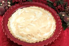 Homemade Chocolate Meringue Pie Royalty Free Stock Photos