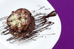 Homemade chocolate muffin Stock Photo