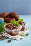 Homemade Chocolate Muffins Stock Photo