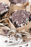 Homemade Chocolate Muffins Stock Photography
