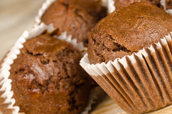 Homemade chocolate muffins Royalty Free Stock Images