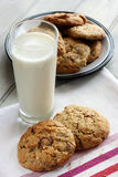 Homemade chocolate and nut cookies Stock Photography