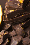 Homemade chocolate with orange Stock Photo
