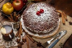 Homemade chocolate pie Stock Images