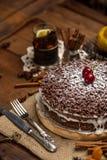 Homemade chocolate pie Royalty Free Stock Photos