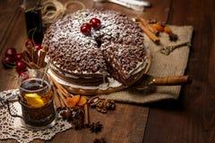 Homemade chocolate pie Royalty Free Stock Image