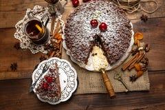 Homemade chocolate pie Stock Image