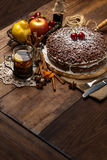 Homemade chocolate pie Royalty Free Stock Images