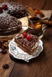 Homemade chocolate pie Royalty Free Stock Photo