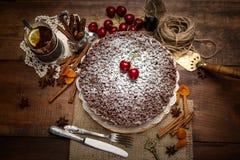 Homemade chocolate pie Royalty Free Stock Photography