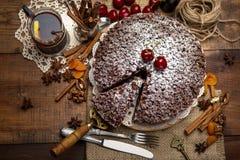 Homemade chocolate pie Stock Photography