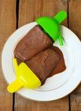 Homemade chocolate sorbet Royalty Free Stock Photography
