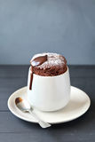 Homemade chocolate souffle Royalty Free Stock Image