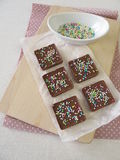 Homemade chocolate with sugar pearls Stock Photography