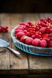 Homemade Chocolate Tart with Berries Stock Image