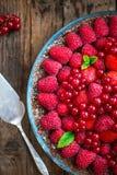 Homemade Chocolate Tart with Berries Royalty Free Stock Photo