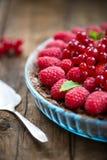 Homemade Chocolate Tart with Berries Stock Photos