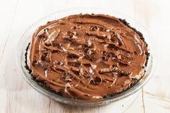 Homemade Chocolate Tofu Pie royalty free stock photos