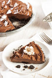 Homemade Chocolate Tofu Pie Royalty Free Stock Photo