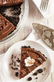 Homemade Chocolate Tofu Pie Royalty Free Stock Image
