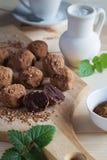 Homemade chocolate truffels Royalty Free Stock Photography