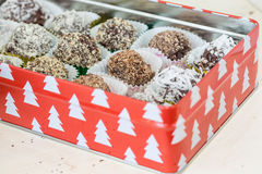 Homemade Chocolate Truffles Stock Photos