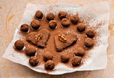 Homemade chocolate truffles Royalty Free Stock Images