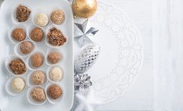 Homemade chocolate truffles Royalty Free Stock Photography