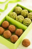 Homemade chocolate truffles Stock Image