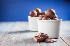 Homemade chocolates Stock Photos