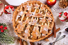 Homemade christmas apple pie Stock Photo