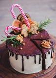 Homemade Christmas cake Royalty Free Stock Photography