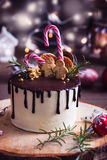 Homemade Christmas cake Royalty Free Stock Images