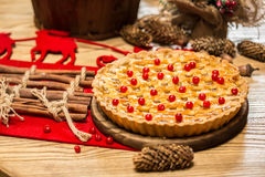 Homemade christmas cake with wild berries. Stock Photography
