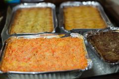 Homemade Christmas Casseroles, close-up