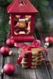 Homemade Christmas cookies Stock Photos