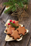 Homemade Christmas cookies Royalty Free Stock Photos