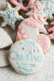 Homemade christmas cookies - gingerbread Stock Photography